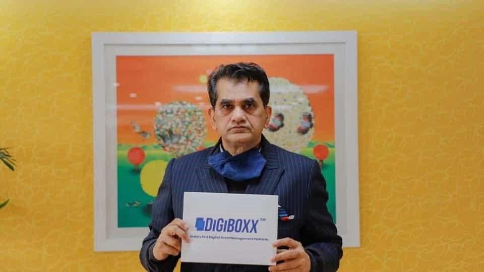 NITI Aayog CEO Amitabh Kant launches an indigenous app- Digiboxx