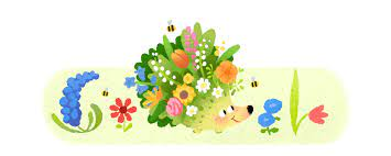 Google Celebrates Equinox Spring 2021 with Hedgehog and Flowers
